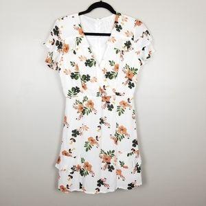 Sadie and Sage white floral mini dress, size S